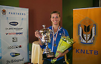 August 24, 2014, Netherlands, Amstelveen, De Kegel, National Veterans Championships, Final lady's 35+ Winer Linda Sentis <br /> Photo: Tennisimages/Henk Koster