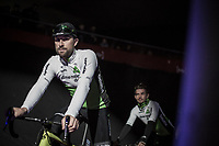 Bernard Eisel (AUT/Dimension Data) at the team presentation in the legendary Kuipke. <br /> <br /> 73th Omloop Het Nieuwsblad 2018<br /> Gent-Meerbeke (BEL) - 196km