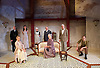 The Roundabout <br /> by JB Priestley <br /> directed by Hugh Ross<br /> at Park Theatre, London, Great Britain <br /> 24th August 2016 <br /> Press photocall <br /> <br /> <br /> Derek Hutchinson as Parsons <br /> <br /> Lisa Bowerman as Lady Kettlewell <br /> <br /> Bessie Carter as Pamela Kettlewell <br /> <br /> Annie Jackson as Alice <br /> Hugh Sachs as Churton Saunders<br /> <br /> Richenda Carey as Lady Knightsbridge <br /> <br /> Brian Protheroe as Lord Kettlewell <br /> <br /> Steven Blakeley as <br /> Comrade Staggles <br /> <br /> <br /> Photograph by Elliott Franks <br /> Image licensed to Elliott Franks Photography Services