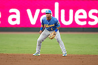 Myrtle Beach Pelicans shortstop Gleyber Torres (1) on defense against the Winston-Salem Dash in game one of the Carolina League Southern Division Championship series at BB&T Ballpark on September 9, 2015 in Winston-Salem, North Carolina.  (Brian Westerholt/Four Seam Images)