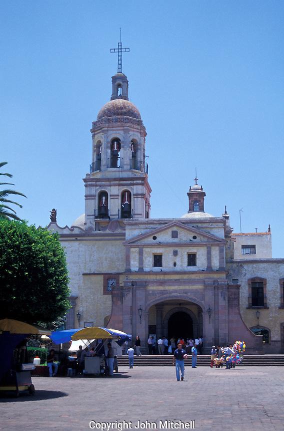 Convento de la Santa Cruz Convent in the city of Queretaro, Mexico. The historic centre of Queretaro is a UNESCO World Heritage Site.