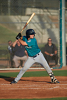 AZL Mariners Anthony Lepre (3) at bat during an Arizona League game against the AZL Giants Orange on July 18, 2019 at the Giants Baseball Complex in Scottsdale, Arizona. The AZL Giants Orange defeated the AZL Mariners 7-4. (Zachary Lucy/Four Seam Images)