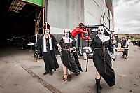 Copenhell 2019 Præst, nonner og djævlen.<br /> <br /> Copenhell 2019 on Refshaleøen in Copenhagen Denmark<br /> Foto: Jens Panduro