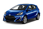 2017 Toyota Prius-c Four 5 Door Hatchback Angular Front stock photos of front three quarter view