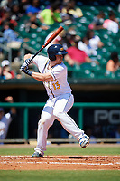 Montgomery Biscuits catcher Mac James (13) at bat during a game against the Mississippi Braves on April 25, 2017 at Montgomery Riverwalk Stadium in Montgomery, Alabama.  Mississippi defeated Montgomery 3-2.  (Mike Janes/Four Seam Images)