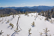 Summit of Mount Hancock in the White Mountains of New Hampshire during the winter months.