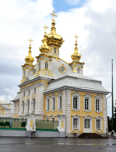 Peterhof, Russia - August 14, 2009 -- One of the buildings at Peterhof, near St. Petersburg, Russia on Friday, August 14, 2009.  It was founded in 1710 as a summer residence for Peter the Great..Credit: Ron Sachs / CNP