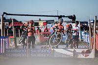 Ceylin Del Carmen Alvarado (NED) and Inge Van der Heijden (NED)<br /> <br /> UCI 2019 Cyclocross World Championships<br /> Bogense / Denmark<br /> <br /> &copy;kramon