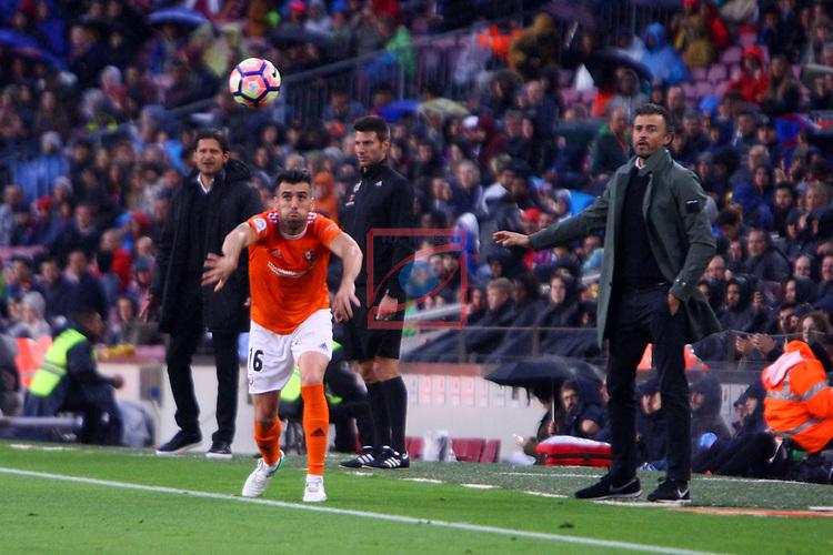 League Santander 2016/2017. Game: 34.<br /> FC Barcelona vs CA Osasuna: 7-1.<br /> Fuentes &amp; Luis Enrique Martinez.