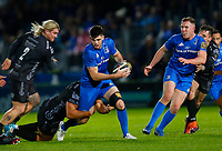 1st November 2019; RDS Arena, Dublin, Leinster, Ireland; Guinness Pro 14 Rugby, Leinster versus Dragons; Harry Byrne of Leinster is tackled by Leon Brown of Dragons - Editorial Use