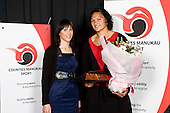 Sportswomen of the Year Valerie Vili with Arna Spratt from Orix. Counties Manukau Sport 17th annual Sporting Excellence Awards held at the Telstra Clear Pacific Events Centre, Manukau City, on November 27th 2008.