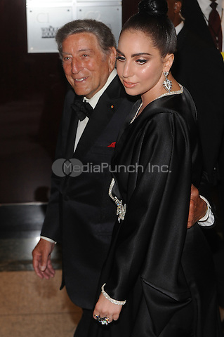 New York,NY-JULY 28: Lady Gaga and Tony Bennett attend 'Cheek To Cheek' taping at at Jazz at Lincoln Center on July 28, 2014 in New York City on July 27 , 2014.  Credit: John Palmer/MediaPunch