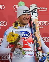 Christof Innerhofer (ITA) vincitore del SuperG.15.03.2012, Planai, Schladming, AUT.Sci Uomini SuperG Coppa del Mondo.Foto Insidefoto / Sandro Zangrando / Expa .Italy Only