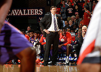 Clemson head coach Brad Brownell during an ACC basketball game Jan. 13, 2015 in Charlottesville, VA Virginia won 65-42.