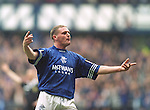 Paul Gascoigne, Rangers scoring against Falkirk in the league at Ibrox, 23rd March 1996