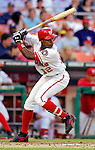 12 June 2006: Alfonso Soriano, outfielder for the Washington Nationals, at bat against the Colorado Rockies at RFK Stadium, in Washington, DC. The Nationals fell to the Rockies 4-3 in the first game of the four game series...Mandatory Photo Credit: Ed Wolfstein Photo..