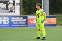 20191005  -  Diksmuide , BELGIUM : KV Mechelen's goalkeeper Joyce Vidal pictured during a footballgame between the womensoccer teams from Famkes Westhoek Diksmuide Merkem and KV Mechelen Ladies A , on the 5th matchday in the first division , 1e nationale , in Diksmuide - Belgium - saturday 5th october 2019 . PHOTO DAVID CATRY | Sportpix.be
