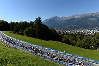 Picture by Richard Blaxall/SWpix.com - 28/09/2018 - Cycling 2018 Road Cycling World Championships Innsbruck-Tiriol, Austria - Mens U23 Road Race - The peloton.