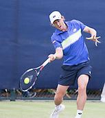 June 13th 2017, Nottingham, England; ATP Aegon Nottingham Open Tennis Tournament day 4;  Forehand from John Millman of Australia