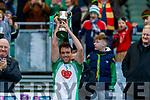 Na Gaeil captain Eoin Doody lifts the cup following the AIB GAA Football All-Ireland Junior Club Championship Final match between Na Gaeil and Rathgarogue-Cushinstown at Croke Park in Dublin.