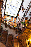 ITALY, Venice. The Skylight over the lobby staircase of the Hotel Danieli, a Luxury Collection Hote..