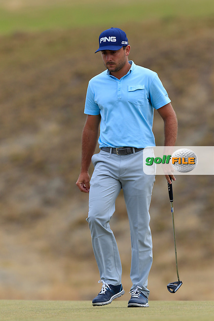 Stephen Jaeger (USA) on the 17th green during Thursday's Round 1 of the 2015 U.S. Open 115th National Championship held at Chambers Bay, Seattle, Washington, USA. 6/18/2015.<br /> Picture: Golffile | Eoin Clarke<br /> <br /> <br /> <br /> <br /> All photo usage must carry mandatory copyright credit (&copy; Golffile | Eoin Clarke)