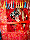 SINGAPORE, Chinatown, happy woman dressed for mid-autumn festival in traditional clothes