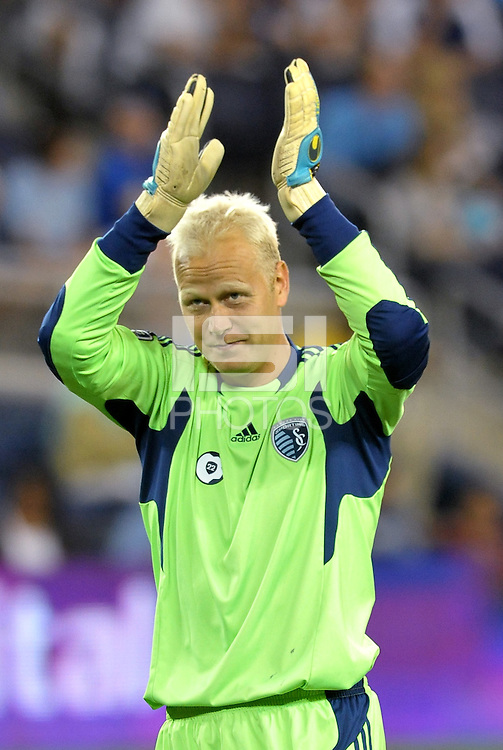Jimmy Nielsen goalkeeper Sporting KC... Sporting Kansas City defeated Columbus Crew 2-1 at LIVESTRONG Sporting Park, Kansas City, Kansas.