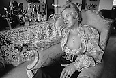 "Danny La Rue, performer, female impersonator, drag queen (but he preferred to be known as a ""Comic in a frock""), in his dressing room at the Palace theatre, London, 1970.  He was born Daniel Patrick Carroll in 1927 in Cork, Ireland."