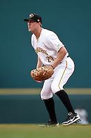 Bradenton Marauders first baseman Jordan Steranka (29) during a game against the Jupiter Hammerheads on April 17, 2014 at McKechnie Field in Bradenton, Florida.  Bradenton defeated Jupiter 2-1.  (Mike Janes/Four Seam Images)