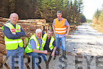 CUTTING: Members of the new forestry co-operative in the Currow area surveying the latest cuttings of timber, l-r: Derry Mangan, Paddy Cronin, Pat Fleming, Padraig Cronin.
