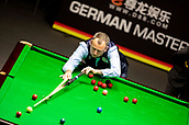 30th January 2019, Berlin, Germany;  Mark Williams, snooker world champion and defending champion from Wales play Zhou Yuelong from China at the German Masters 2019.