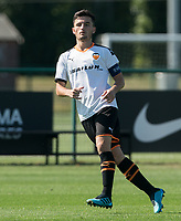 Hugo Guillamon of Valencia CF U19 during the UEFA Youth League match between Chelsea U19 and Valencia Juvenil A at the Chelsea Training Ground, Cobham, England on 17 September 2019. Photo by Andy Rowland.