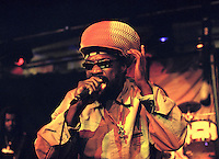 Mykal Rose.<br /> Jamaican reggae singer and songwriter.<br /> The DRUM cultural Centre, Birmingham, May 2004.