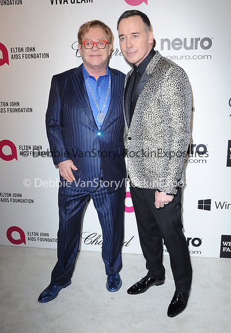 Elton John and David Furnish  attends the 2014 Elton John AIDS Foundation Academy Awards Viewing Party in West Hollyood, California on March 02,2014                                                                               © 2014 Hollywood Press Agency