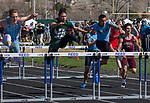 The boys 100 meter hurdles finals during the Reed Sparks Rotary Invitational track and field event at Reed High School in Sparks, Saturday, April 1, 2017.