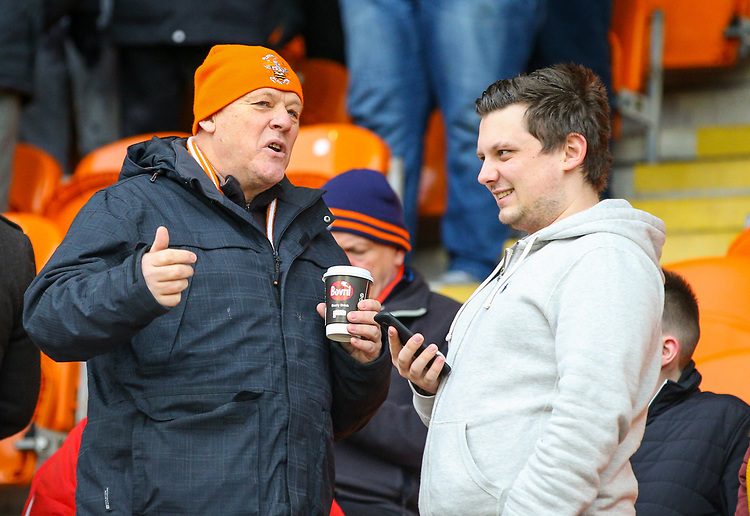 Blackpool fans await kick off<br /> <br /> Photographer Alex Dodd/CameraSport<br /> <br /> The EFL Sky Bet League One - Blackpool v Shrewsbury Town - Saturday 19 January 2019 - Bloomfield Road - Blackpool<br /> <br /> World Copyright © 2019 CameraSport. All rights reserved. 43 Linden Ave. Countesthorpe. Leicester. England. LE8 5PG - Tel: +44 (0) 116 277 4147 - admin@camerasport.com - www.camerasport.com