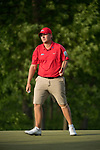 SUGAR GROVE, IL - MAY 29: Braden Thornberry of Ole Miss sinks a putt during the Division I Men's Golf Individual Championship held at Rich Harvest Farms on May 29, 2017 in Sugar Grove, Illinois. Thornberry won the individual national title with a -11 score. (Photo by Jamie Schwaberow/NCAA Photos via Getty Images)