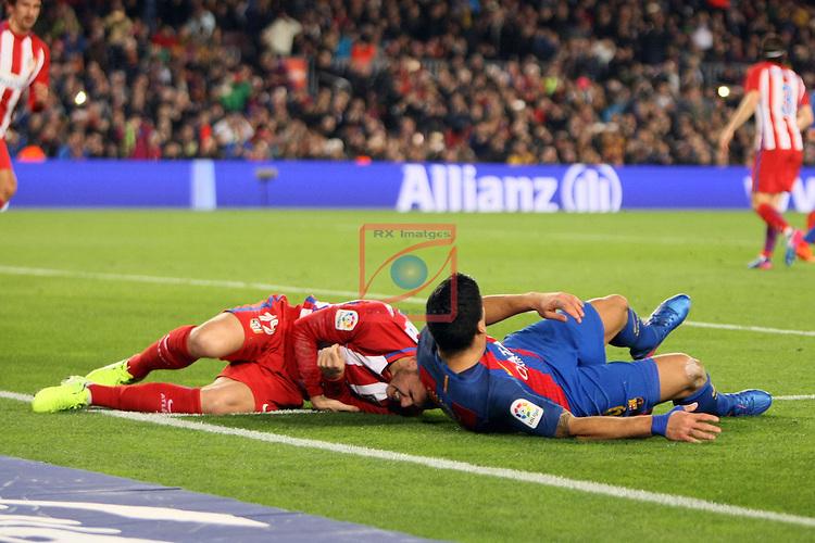 Copa del Rey 2016/2017 - Semifinal vuelta.<br /> FC Barcelona vs Atletico Madrid: 1-1.<br /> Lucas &amp; Luis Suarez.