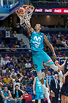 Movistar Estudiantes Sylven Landesberg during Basketball Champions League match between Movistar Estudiantes and Donar Groningen at Wizink Center in Madrid, Spain October 02, 2017. (ALTERPHOTOS/Borja B.Hojas)
