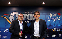 BOGOTÁ - COLOMBIA, 28-01-2018:  Carlos Martínez (Izq), Presidente de FOX Networks Group Latin America y Hernán Donnari (Der.), VP Fox Sports Latin America at Fox Network Group durante rueda de prensa antes del encuentro entre Independiente Santa Fe y el América de Cali  por la final del torneo Fox Sports 2018 jugado en el estadio Nemesio Camacho El Campin de la ciudad de Bogota. / Carlos Martínez (L), President of FOX Networks Group Latin America and Hernán Donnari (R), VP Fox Sports Latin America at Fox Network Group during a press conference before the meeting between Independiente Santa Fe and América de Cali for the final of the Fox Sports 2018 tournament played at the Nemesio Camacho Stadium The Campin of the city of Bogota. Photo: VizzorImage/ Felipe Caicedo / Staff