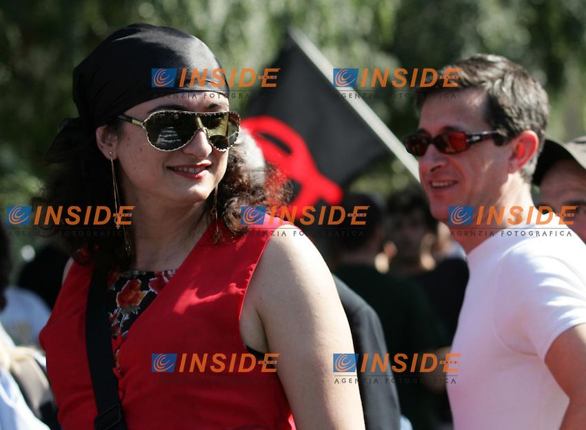 Roma, 24/06/2006<br /> Corteo del Gay Pride Roma 2006<br /> Vladimir Luxuria, deputato di Rifondazione Comunista.<br /> Photo Antonietta Baldassarre Insidefoto