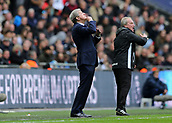 5th November 2017, Wembley Stadium, London England; EPL Premier League football, Tottenham Hotspur versus Crystal Palace; Crystal Palace Manager Roy Hodgson from the touchline gesturing to his Crystal Palace players to keep their chins up