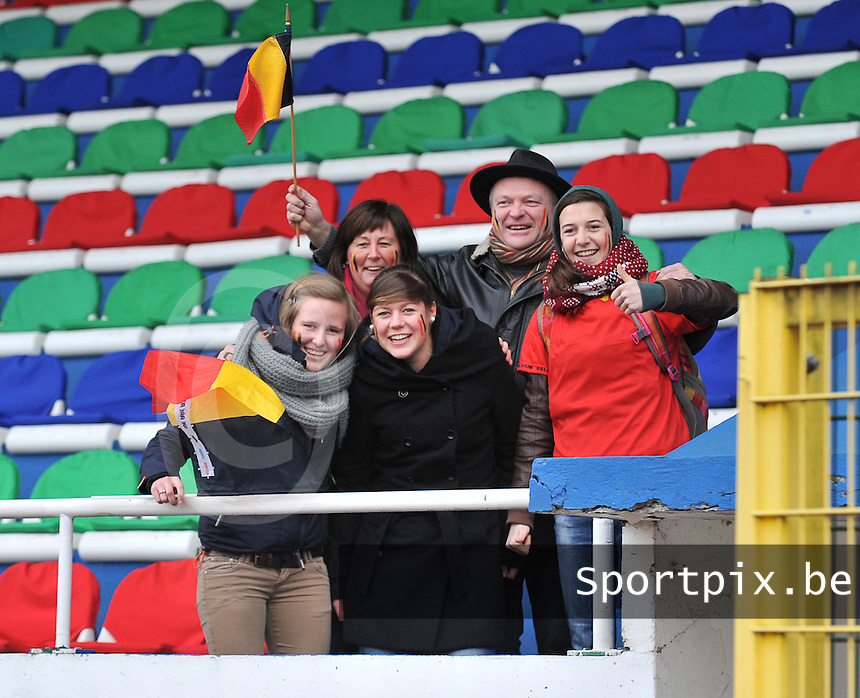 France U19 - Belgium U19 : Belgian Supporters .foto DAVID CATRY / Nikonpro.be