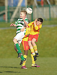 Darragh Murphy of Knocklyon FC in action against Cathal Darcy of Avenue United during their SFAI game at Lisdoonvarna. Photograph by John Kelly.