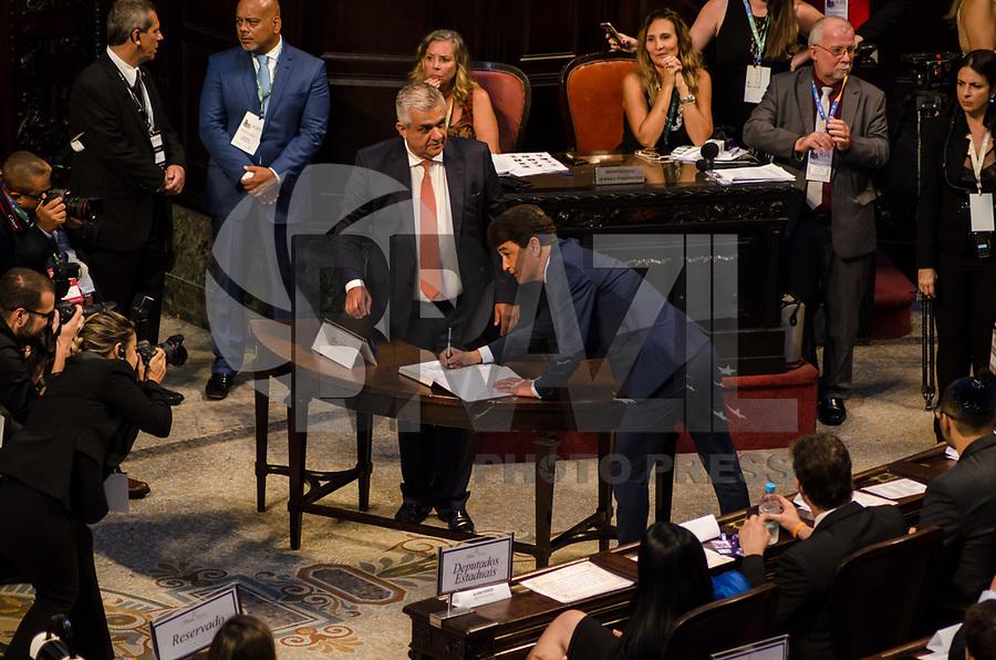 RIO DE JANEIRO, RJ, 01.02.2019 – POLITICA-RJ – Posse do candidato eleito ao cargo de deputada estadual do Estado do Rio de Janeiro, Bebeto, toma posse hoje no plenário da Assembleia Legislativa do Estado do Rio de Janeiro (Alerj), nesta sexta-feira (01).(Foto: Vanessa Ataliba/ Brazil Photo Press/folhapress)