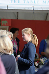 Stamford, Lincolnshire, United Kingdom, 8th September 2019, HRH The Countess of Wessex and Lady Louise Windsor visit the shopping avenues at the 2019 Land Rover Burghley Horse Trials, Credit: Jonathan Clarke/JPC Images