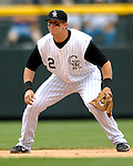26 August 2007:  Colorado Rockies shortstop Troy Tulowitzki in action against the Washington Nationals at Coors Field in Denver, Colorado. The Rockies defeated the Nationals 10-5 to sweep the 3-game series...Mandatory Photo Credit: Ed Wolfstein Photo