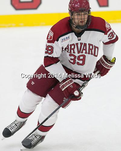 Brian Hart (Harvard - 39) - The Harvard University Crimson tied the visiting Dartmouth College Big Green 3-3 in both team's first game of the season on Saturday, November 1, 2014, at Bright-Landry Hockey Center in Cambridge, Massachusetts.