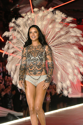 NEW YORK, NY - NOVEMBER 08: Adriana Lima at the 2018 Victoria's Secret Fashion Show at Pier 94 on November 8, 2018 in New York City. Credit: John Palmer/MediaPunch